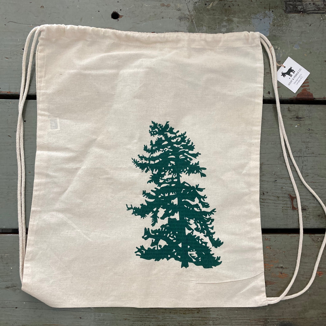 Bowen Tree Drawstring Tote