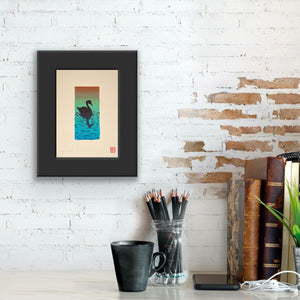 Swim at Dusk - Reduction Print