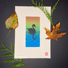 Load image into Gallery viewer, Swim at Dusk - Reduction Print