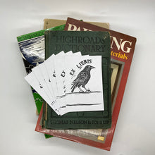 Load image into Gallery viewer, Crow Bookplate Sticker Pack