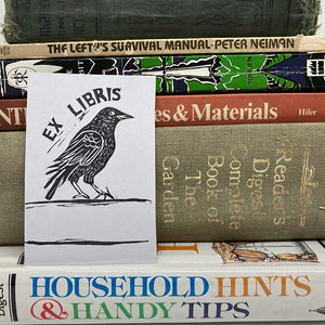 Crow Bookplate Sticker Pack