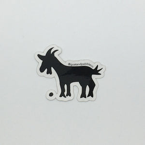 Goat & Pebble Sticker