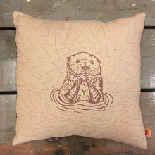 Load image into Gallery viewer, Beige Otter Throw Pillow Case