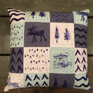 Nature Themed Throw Pillow Case