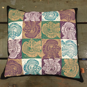 Seashell Quilted Sisters Throw Pillow Case