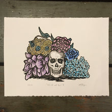 Load image into Gallery viewer, Still Life with Yorick, Linocut Print