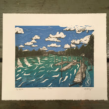 Load image into Gallery viewer, Fraser River Lithograph and Linocut Print