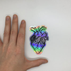 Large Holographic Heart Sticker
