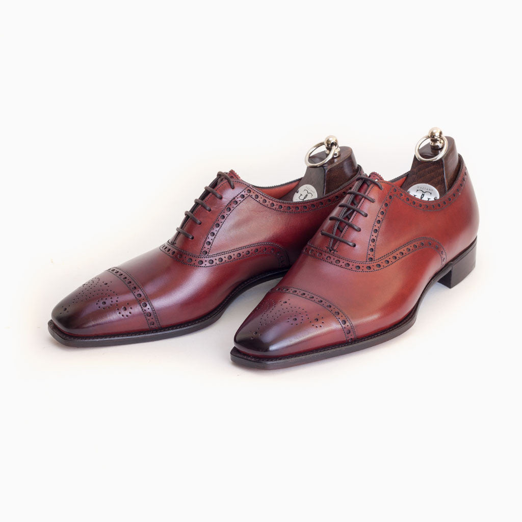 GAZIANO & GIRLING BURLINGTON VINTAGE CHERRY TG73 (WIDE FIT)