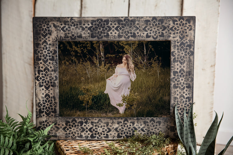 Bohemian Hand Painted Frame