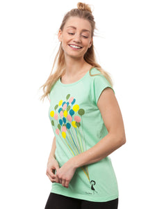 Balloons Girl Cap Sleeve neo mint