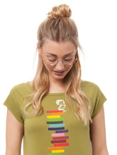 Laden Sie das Bild in den Galerie-Viewer, Books Girl Cap Sleeve olive