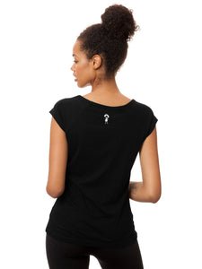 Sporty Girl Cap Sleeve black