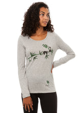 Laden Sie das Bild in den Galerie-Viewer, Faultier Longsleeve heather grey