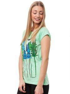 Wood Girl Cap Sleeve neo mint