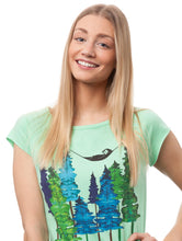 Laden Sie das Bild in den Galerie-Viewer, Wood Girl Cap Sleeve neo mint