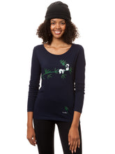 Laden Sie das Bild in den Galerie-Viewer, Faultier Longsleeve navy