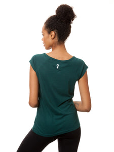 Balance Girl Cap Sleeve deep teal