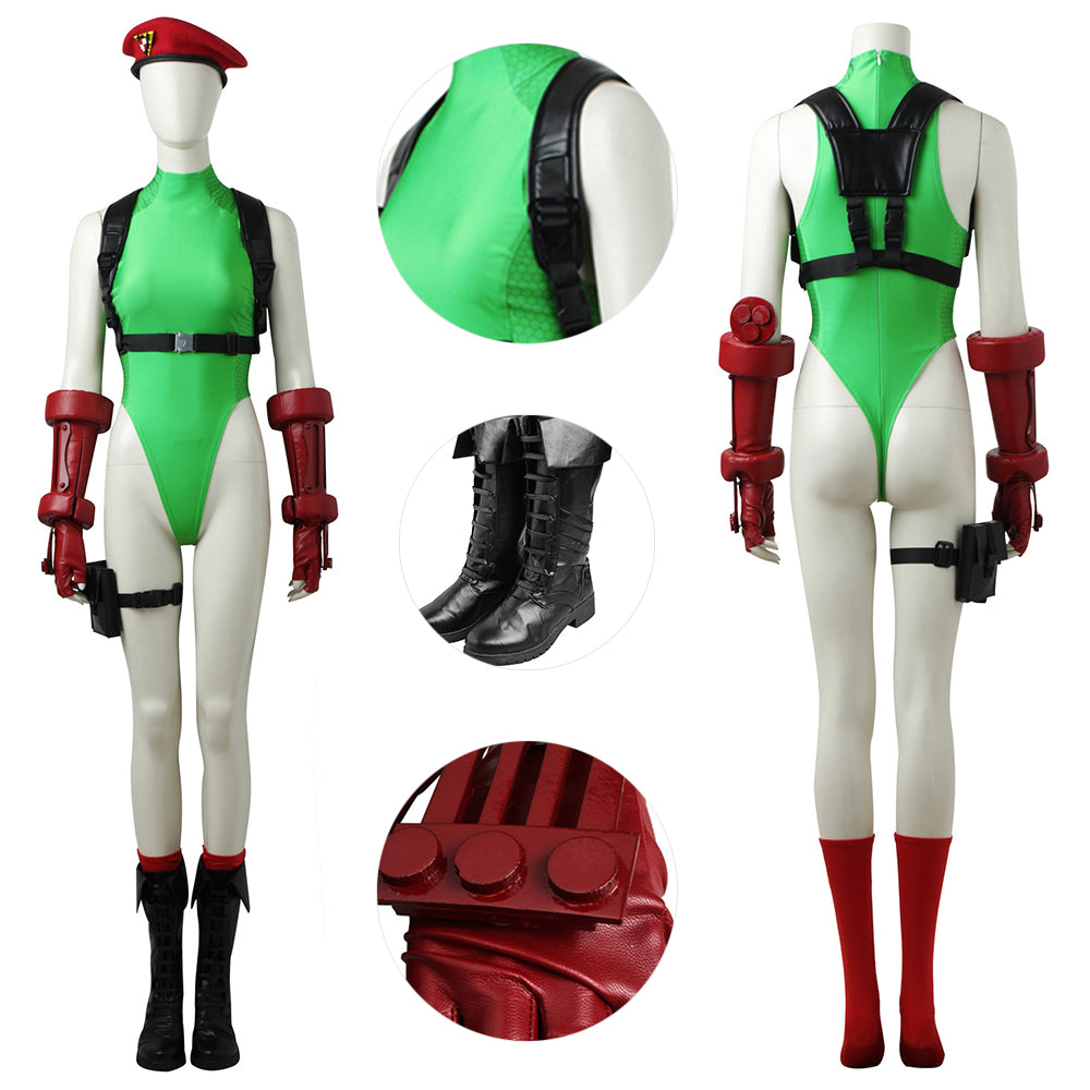 Cammy White Suit Street Fighter Cammy Classic Costume For Cosplay