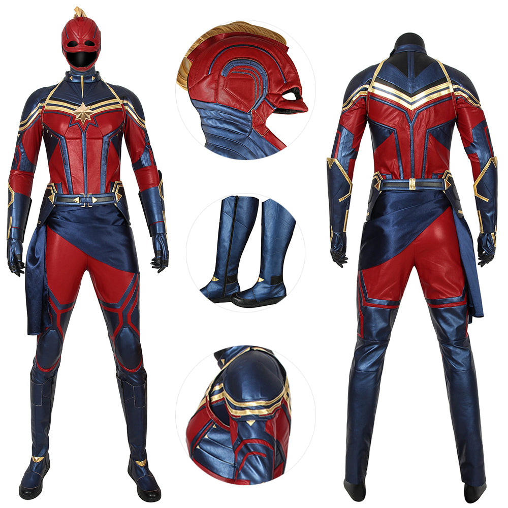 Captain Marvel Costume Avengers Endgame Carol Danvers Suit For Cosplay Deluxe Edition
