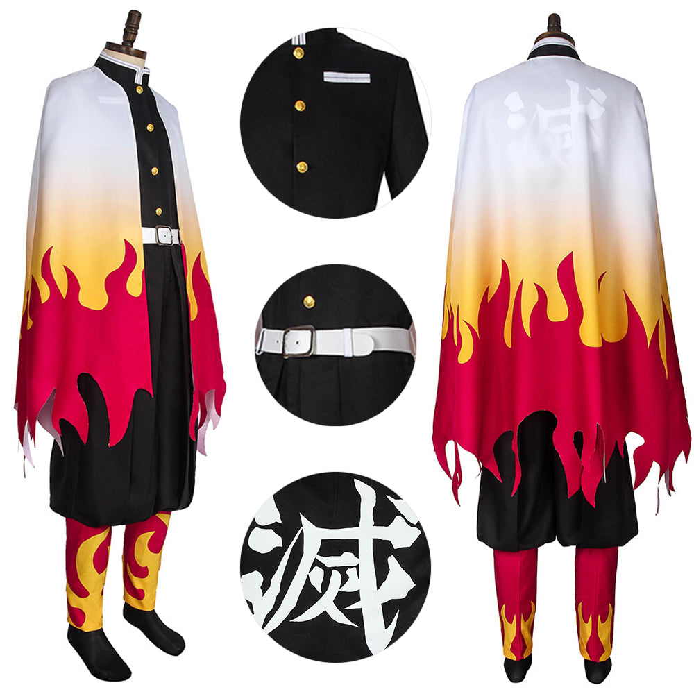 Demon Slayer Infinity Train Kyojuro Rengoku Costume For Cosplay