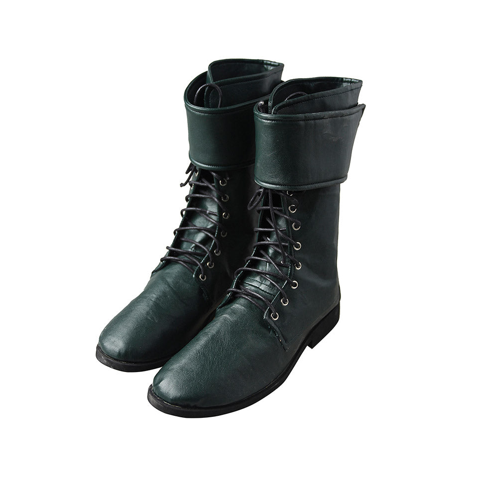 Green Arrow Boots Arrow Season 5 Oliver Queen Shoes For Cosplay