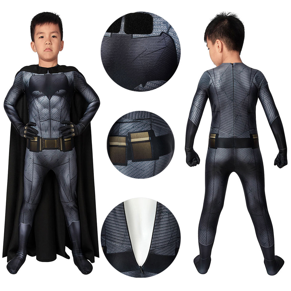 Halloween Costumes For Boys Batman Cosplay Costume For Kids HQ Printed With Cloak
