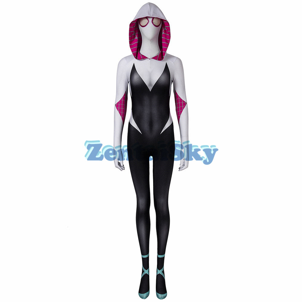Gwen Stacy Cosplay Suit Spider-man Into the Spider-Verse Female Printed Costume