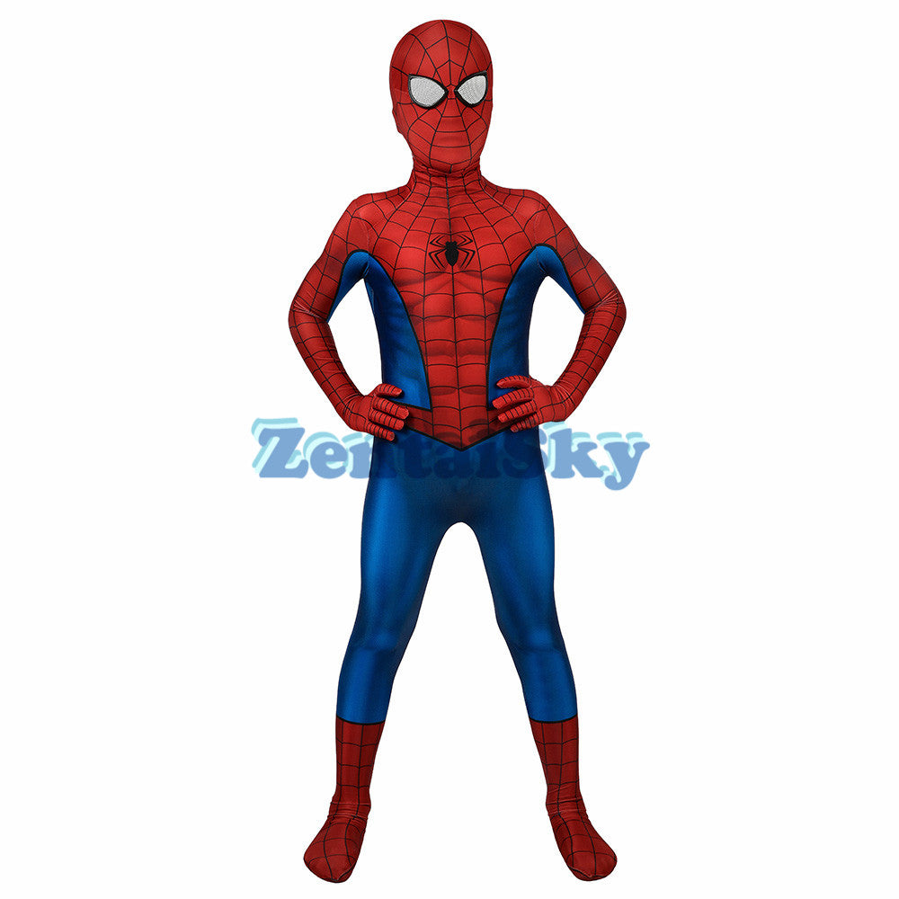 Spider-man Kids Cosplay Suit PS4 Spider-man Costume For Halloween