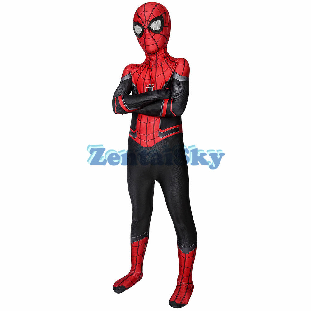 Spider-man Far From Home Kids Cosplay Suit Printed Halloween Costume For Children
