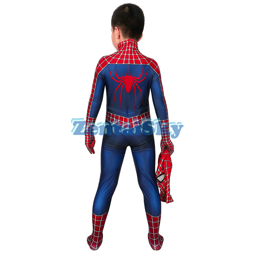 Spider-man Kids Tobey Maguire Cosplay Suit For Halloween