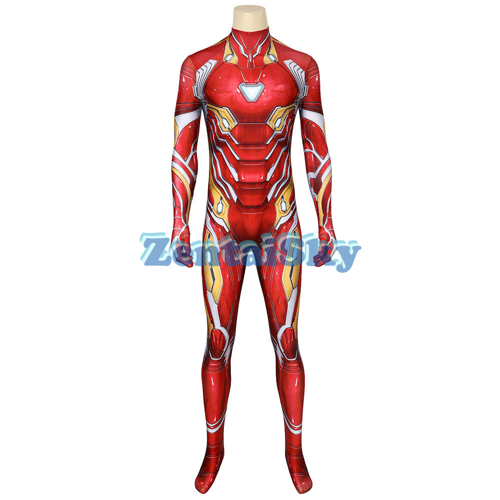 Iron man Cosplay Suit Avengers Endgame Iron man Nanotech Printed Zentai Costume