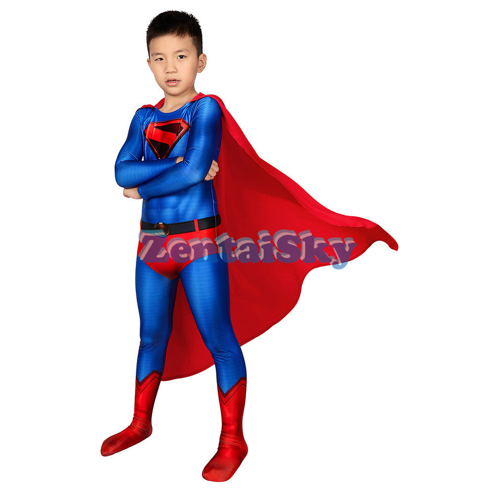 Superman Kids Cosplay Suit Crisis on Infinite Earths Superman Costume For Children
