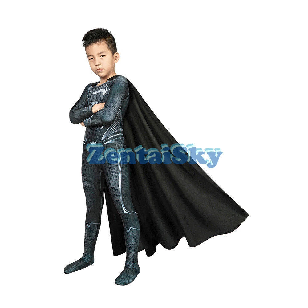 Justice League Superman Kids Cosplay Suit Costume For Halloween