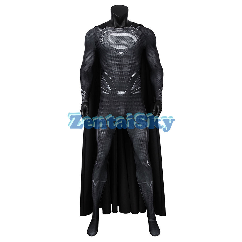 Superman Black Cosplay Suit Spandex Justice League Superman Recovery Suit