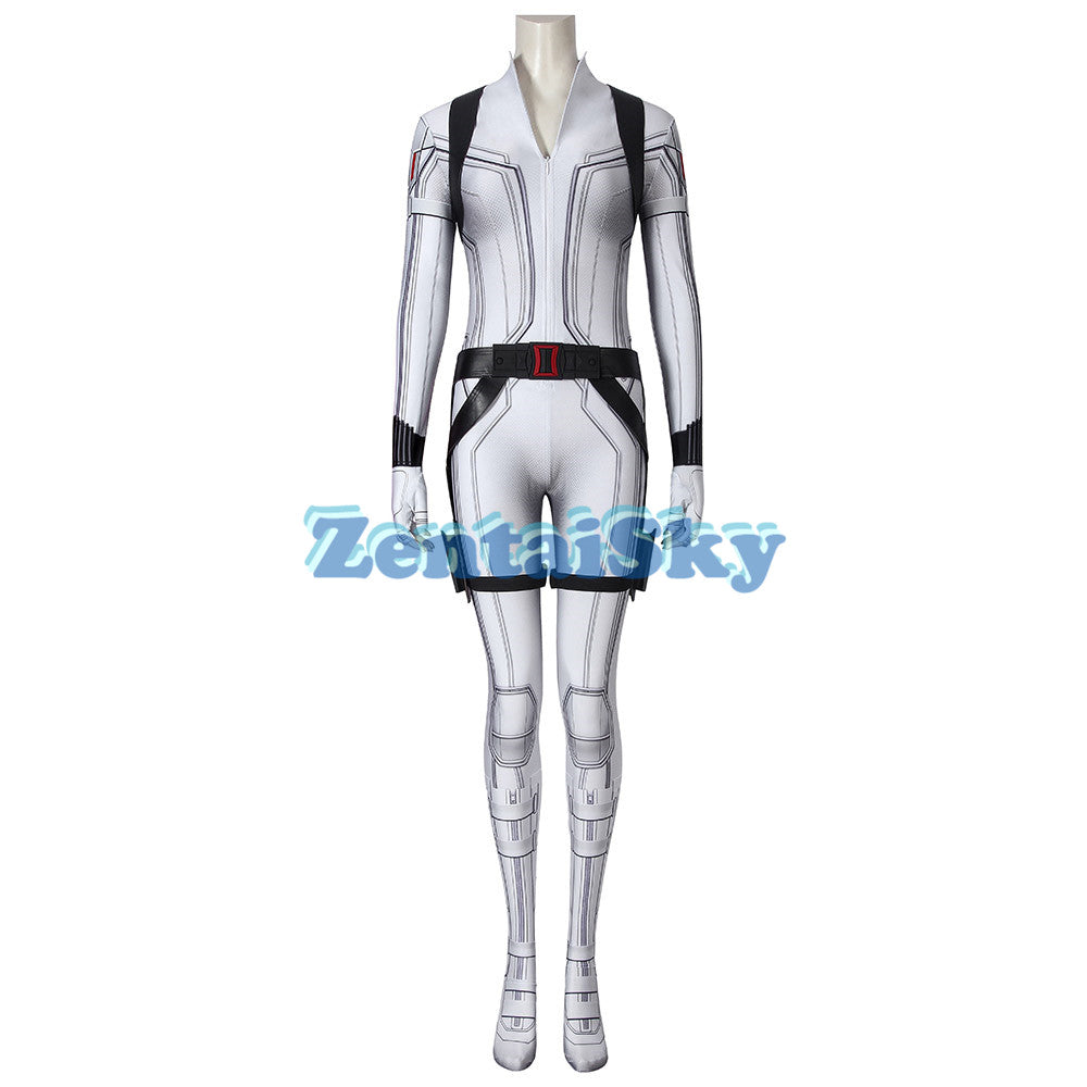 Black Widow 2020 Cosplay Suit 3D Printed White Natasha Romanoff Zentai Costume