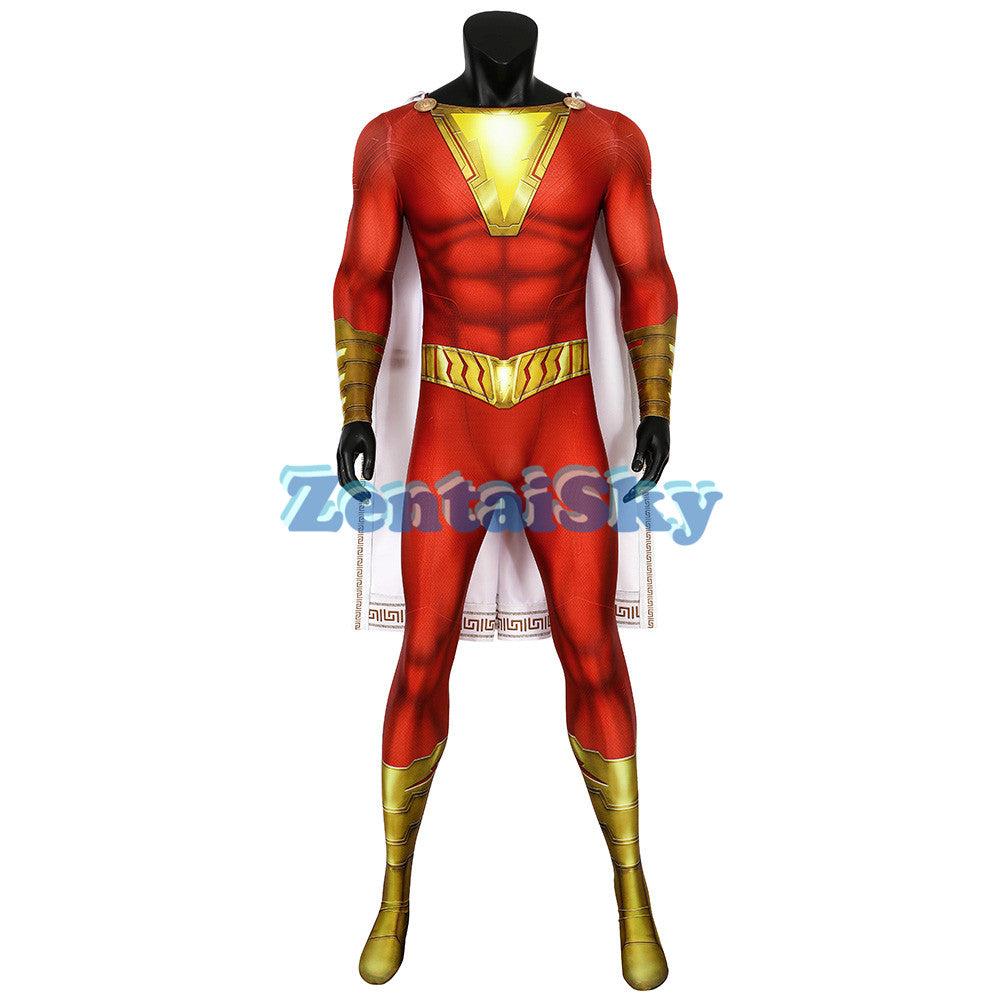 Shazam Cosplay Suit Billy Batson 3D Printed Zentai Costume