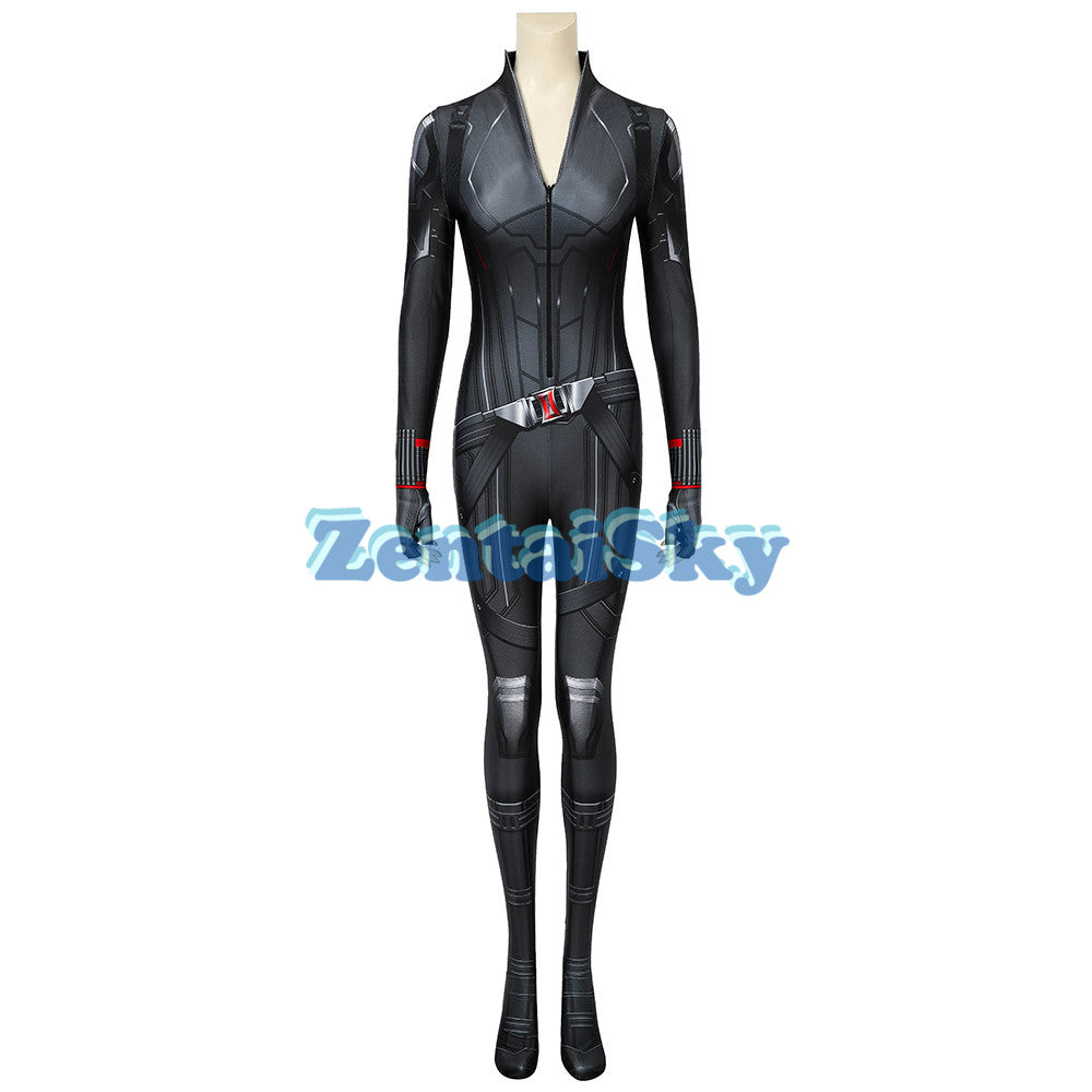 Avengers 4 Endgame Black Widow Cosplay Suit Printed Zentai Costume
