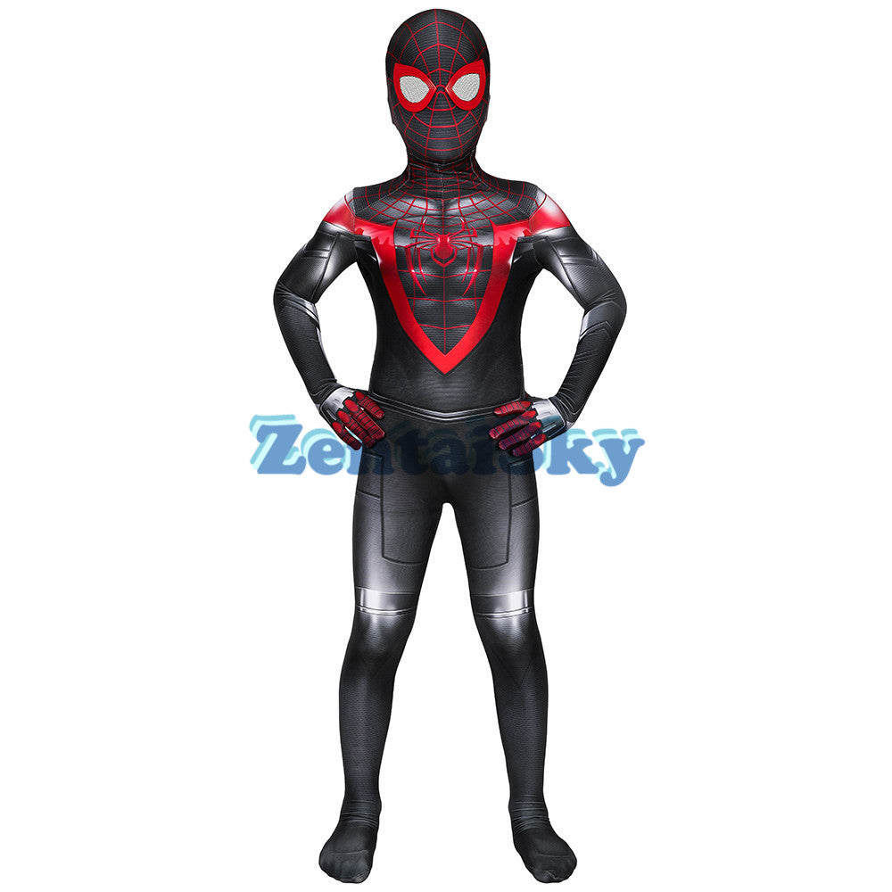 Spider-man PS5 Miles Morales Cosplay Kids Suit For Halloween