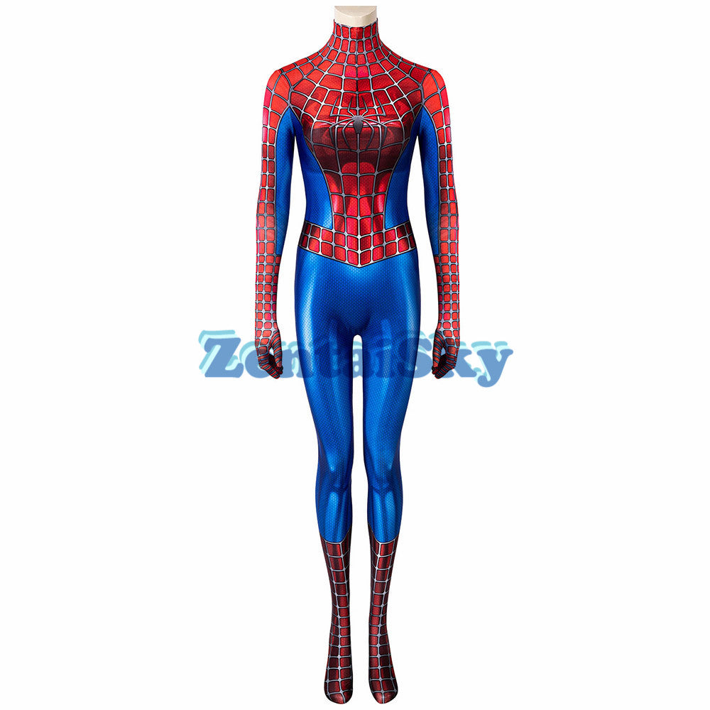 Spider-man Female Cosplay Suit Classic Tobey Maguire Printed Spandex Costume