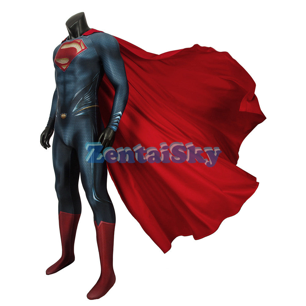 Superman Cosplay Suit Spandex Classic Halloween Superman Costume