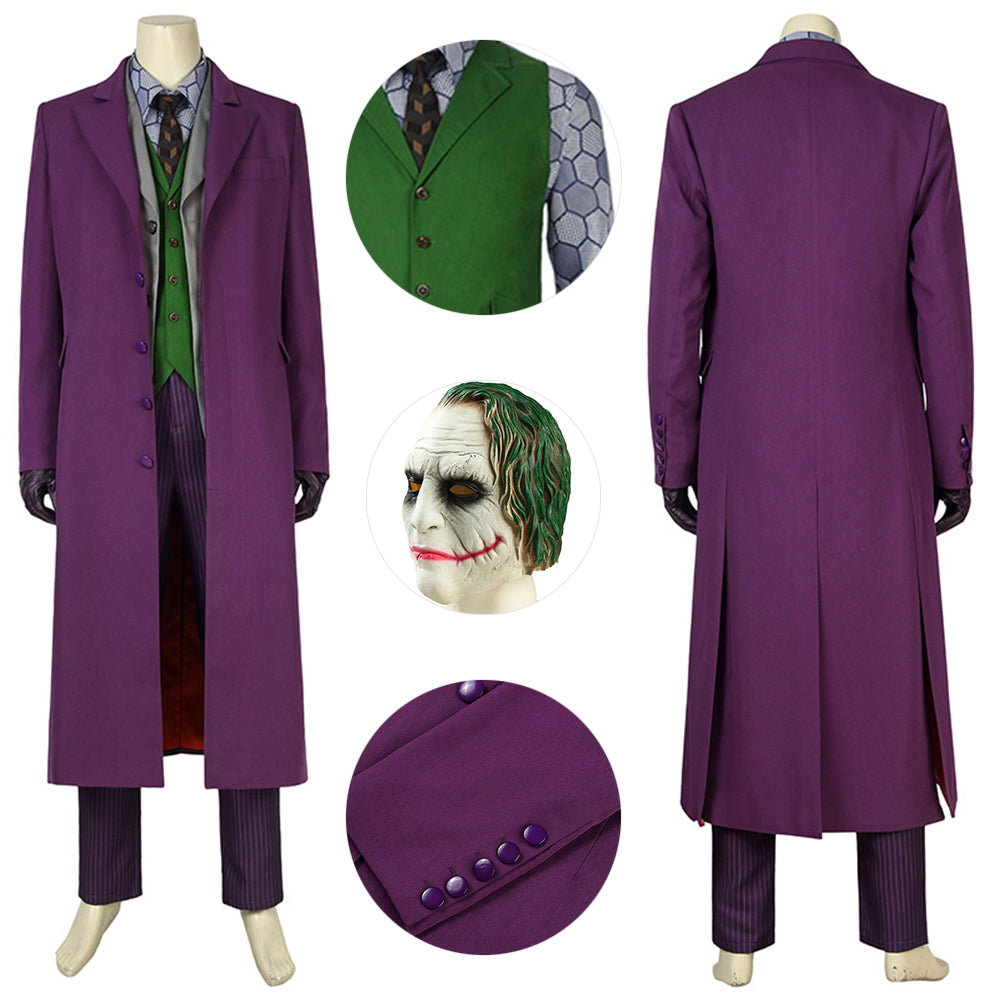 Joker Cosplay Suit Batman Dark Knight Rise Joker Cosplay Costumes