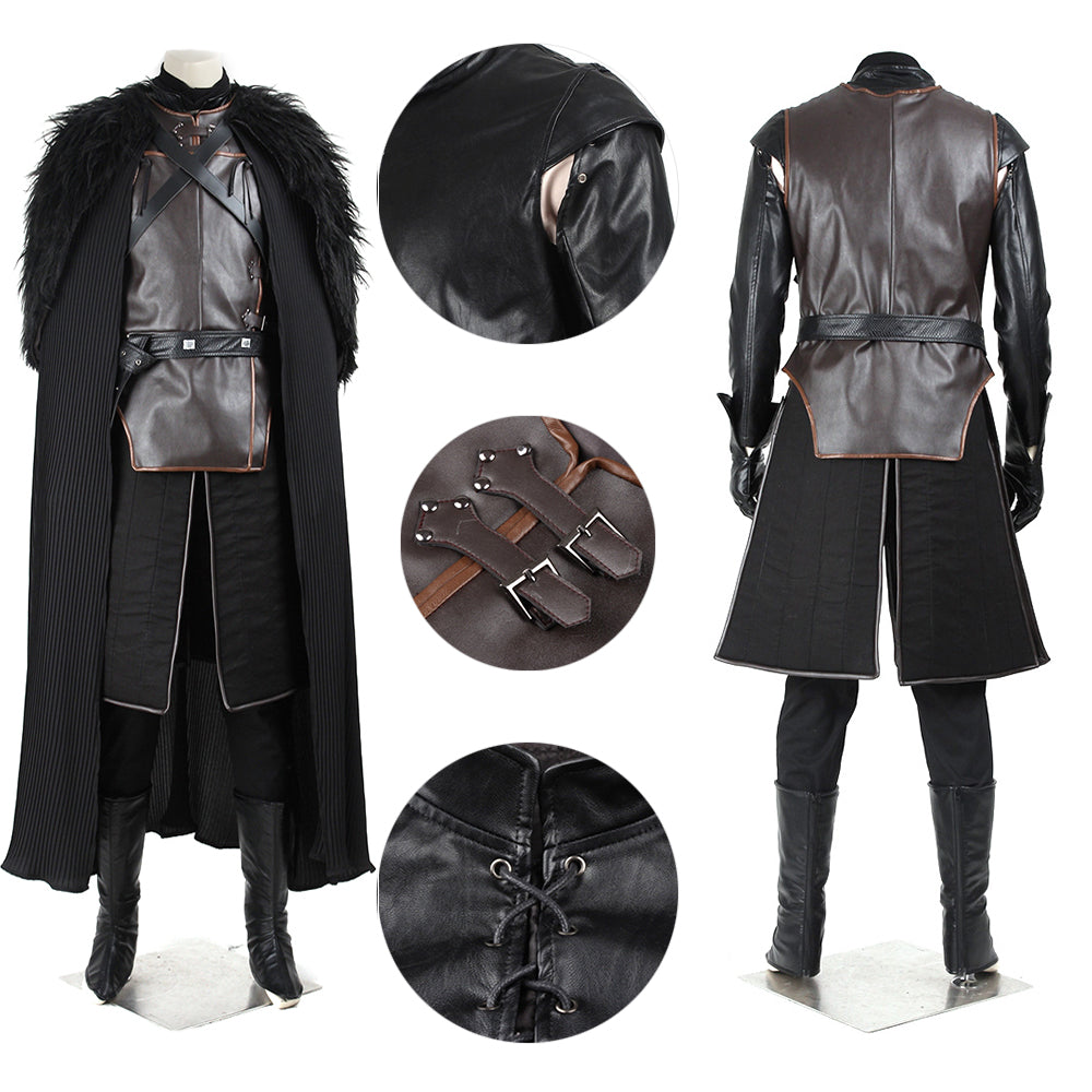 Jon Snow Cosplay Costume Game of Thrones the Night's Watch Commander Suit