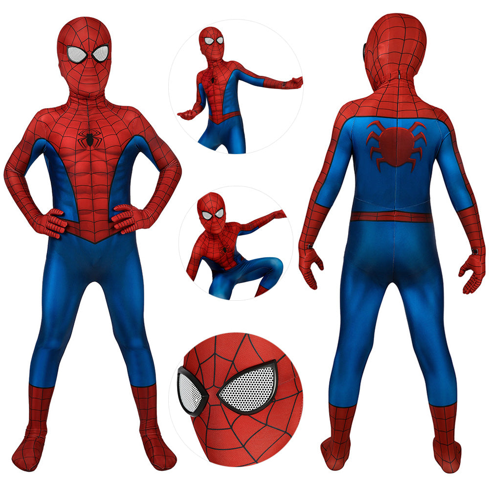 Kids Spider-man Suit PS4 Classic Spider man Printed Cosplay Costume Gifts For Boys