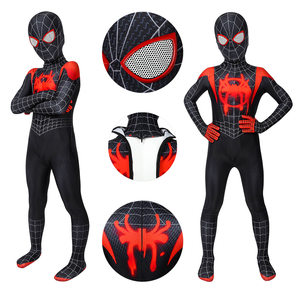 Miles Morales Suit Black Spider-man Cosplay Costume Gift For Boys