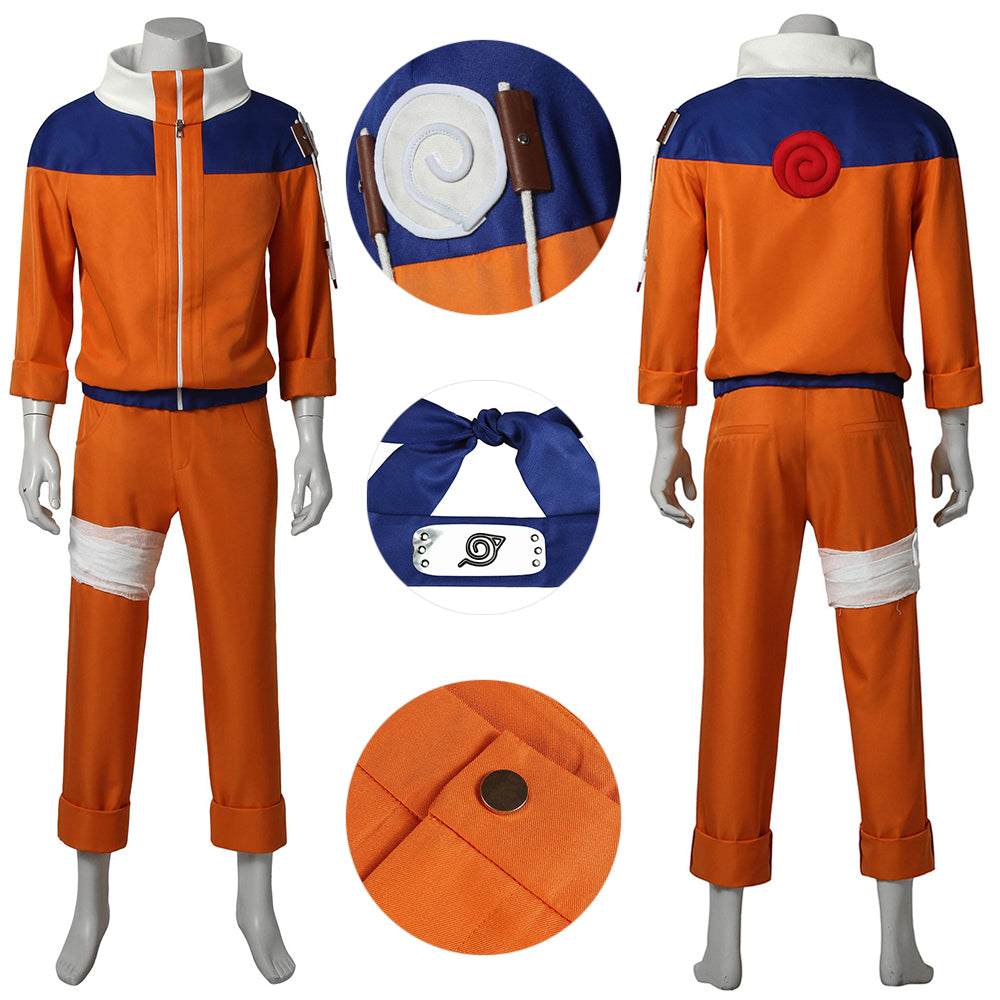 Naruto Costume The Classic Orange Naruto Suit For Cosplay