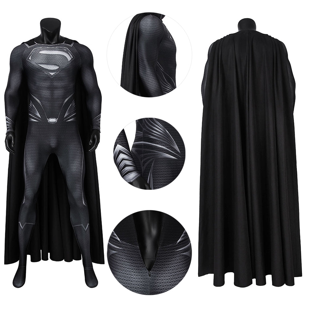 Superman Black Suit Justice League Costume For Cosplay