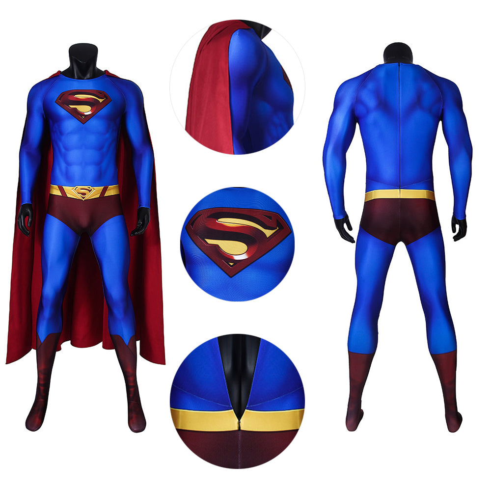 Superman Cosplay Costumes Crisis On Infinite Earths Superman Blue Cosplay Suit