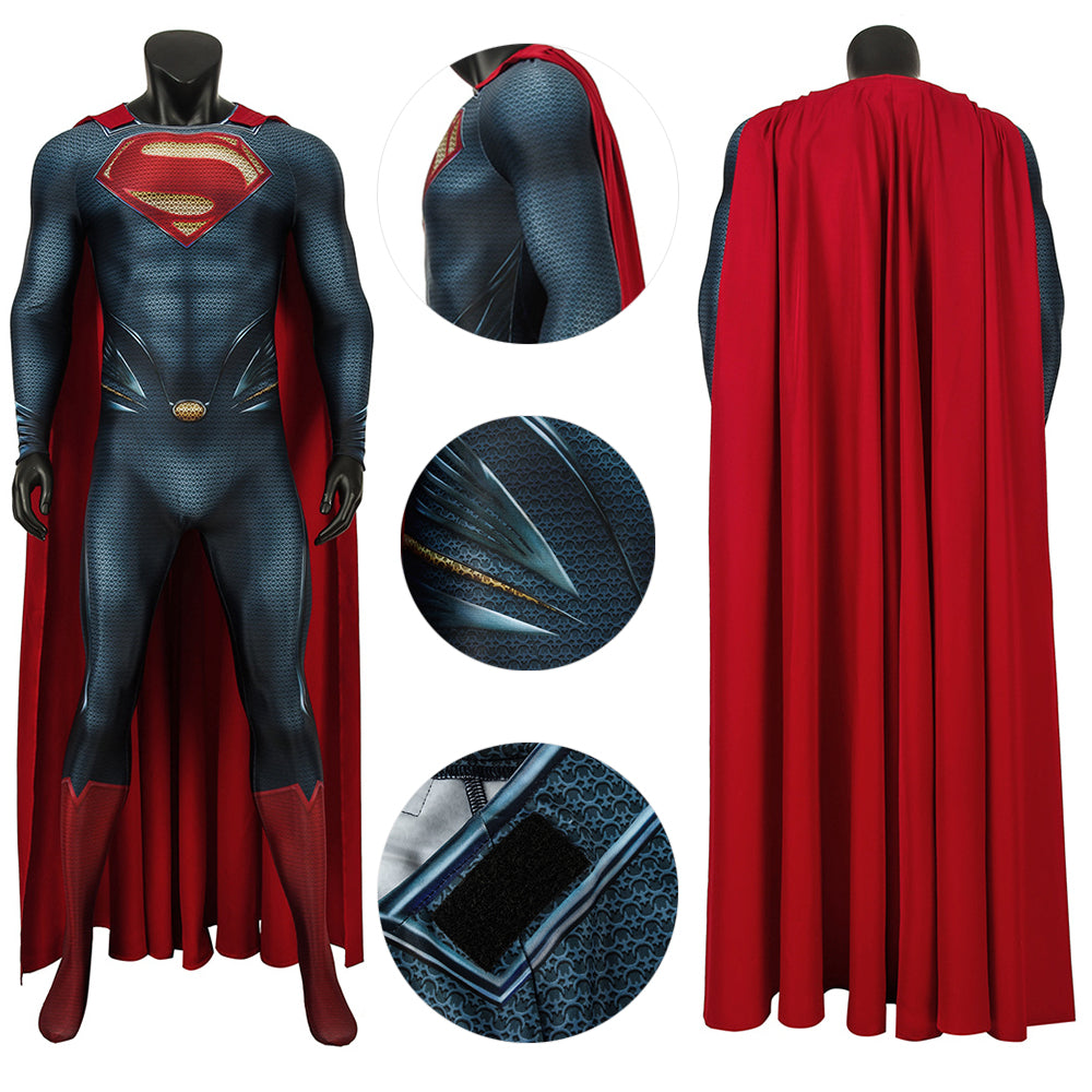 Superman Cosplay Suit Clark Kent Superman Man of Steel 3D Printed Costume For Cosplay