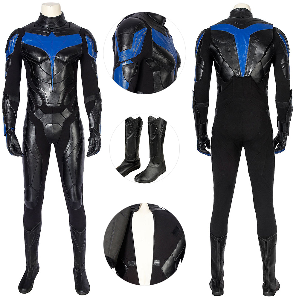 Titans Nightwing Suit Titans S1 Dick Grayson Costume For Cosplay